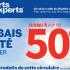 Circulaire Sports Experts du 29 juillet au 11 août 2020