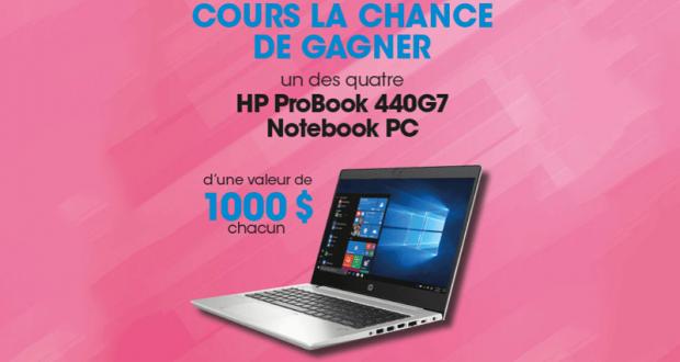 Gagnez 1 des 4 ordinateurs portables de 1000$ chacun