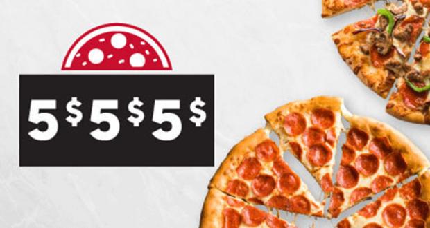 Rabais de 5$ 5$ 5$ chez Pizza Hut