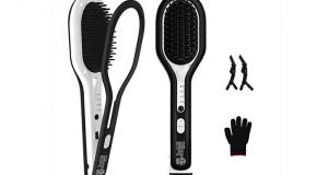 Brosse à lisser pour cheveux avec fonction anticalcaire à 25.99$