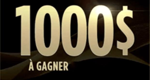 Gagnez 1 000$ sous forme d'un chèque (2 Gagnants)