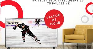 Gagnez Un Téléviseur LG 4K 75 pouces (Valeur de 1300$)