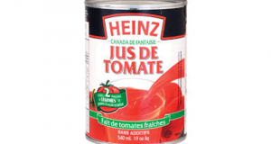 Jus de tomate Heinz 540mL à 50¢ au lieu de 1.49$