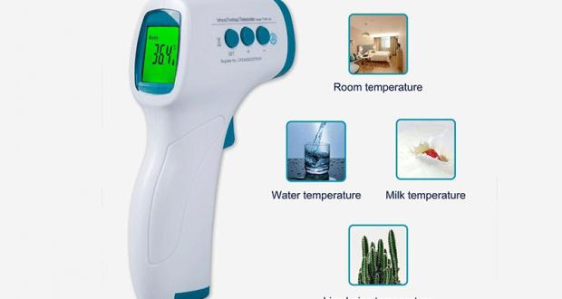 Thermomètre frontal sans contact à 12.59$ au lieu de 39.99$
