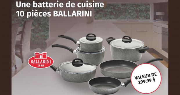 Une batterie de cuisine 10 pièces de marque BALLARINI
