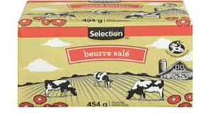 Beurre salé Selection 454g à 2.88$ au lieu de 5.49$