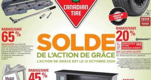 Circulaire Canadian Tire du 8 octobre au 14 octobre 2020
