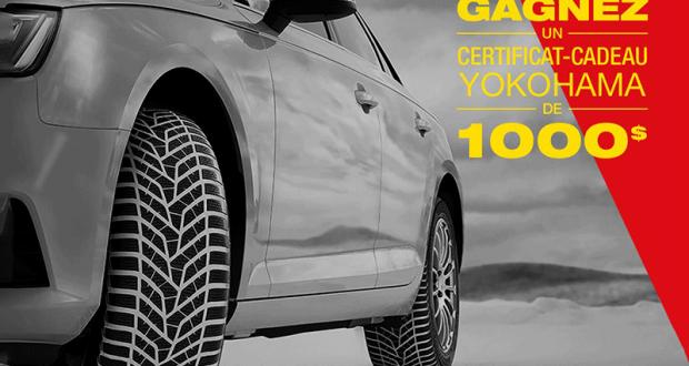 Gagnez 1000$ pour l'achat de pneus Yokohama