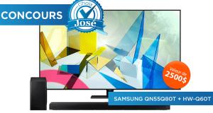 Gagnez un téléviseur 55 pouces QLED 4K (Valeur de 2500$)