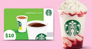 Gagnez une des 10 cartes-cadeaux Starbucks