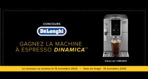 Gagnez une machine à Espresso Dinamica (Valeur de 1300$)