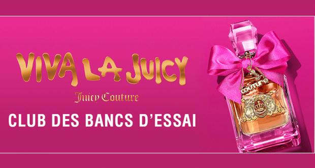 Testez gratuitement L'eau de parfum Viva La Juicy de Juicy Couture