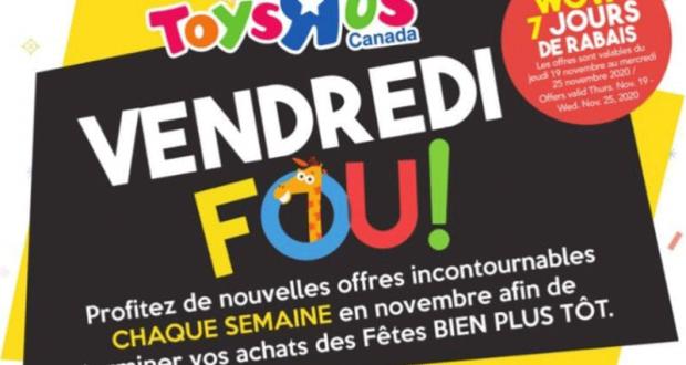 Circulaire Toys R Us du 19 novembre au 25 novembre 2020