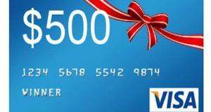 Gagnez Une carte-cadeau prépayée (Valeur de 500$)
