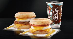 Mc Donald's Deux sandwichs McMuffin pour 5 $ plus taxes