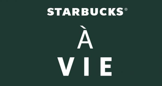 Gagnez 2 prix Starbucks pour la vie (Valeur de 62.639 $)