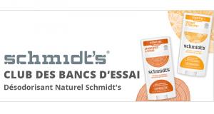 Testez des Désodorisants naturels sans aluminium Schmidt's