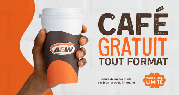 Café gratuit chez A&W