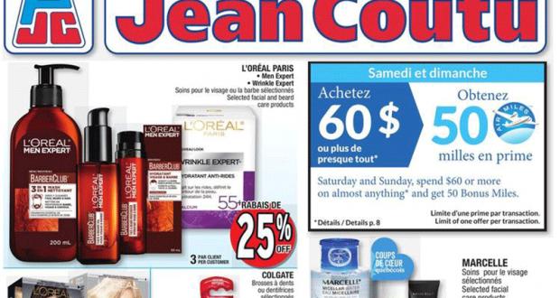 Circulaire Jean Coutu du 14 janvier au 20 janvier 2021
