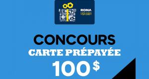 Gagnez Une carte cadeau Rona d'une valeur de 100 $