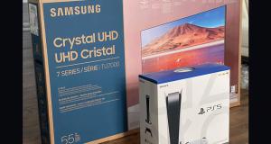 Gagnez une TV 55 SAMSUNG + Une PS5 (Valeur de 2000 $)