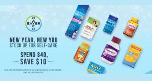 Économisez 10$ lorsque vous dépensez 40$ sur certains produits Bayer