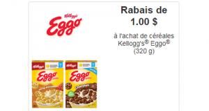 Coupon de 1$ à l'achat de céréales Kellogg's Eggo