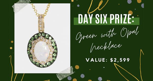 Gagnez un collier en or 14K - en diamants et en opale (2599 $)