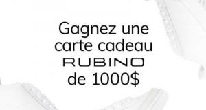 Gagnez une carte cadeau Rubino de 1000 $