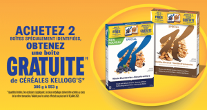 Obtenez une boîte de céréales Kellogg's gratuite