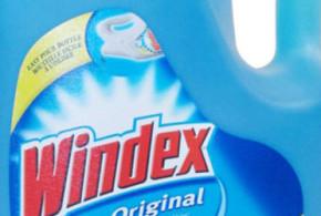 Bouteille de nettoyant à vitre Windex à 1.50$