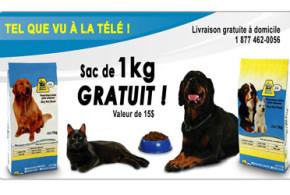 Echantillon de nourriture chat ou chien