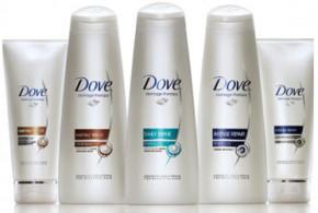 Test de produit, capillaires Dove
