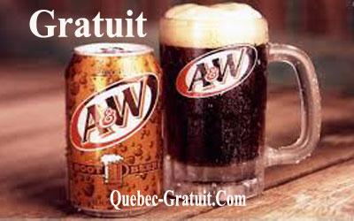 Root Beer A&W Gratuite