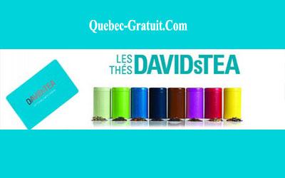 Carte cadeau Les Thés DAVIDsTEA de 100 $