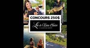 Carte cadeau de 250$ à l'Auberge Lac-à-l'Eau-Claire