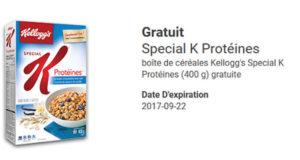 Boîte de céréales Kellogg's Special K Protéines Gratuite