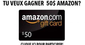 Une carte cadeau Amazon 50$