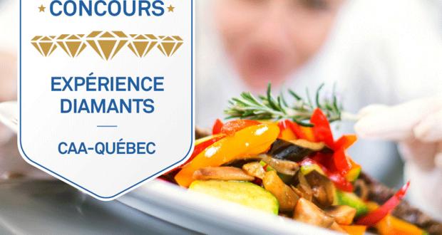 500$ dans l'un des établissements Quatre et Cinq Diamants du Québec