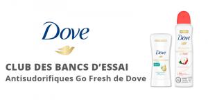 Club des bancs d'essai - Dove Body Wash