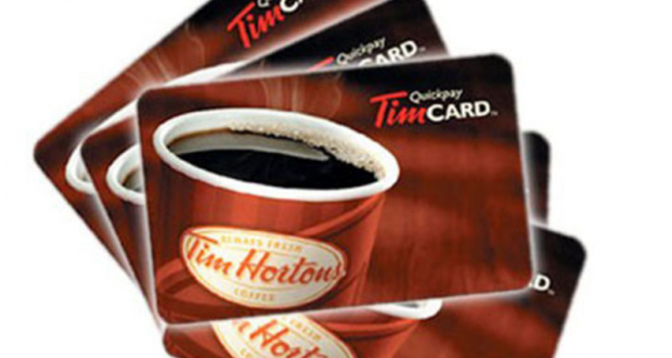 Une Carte cadeau Tim Hortons de 50$