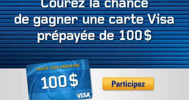 Carte VISA prépayée de 100$