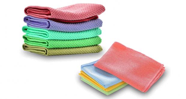 Échantillons gratuits de serviettes de nettoyage en microfibre