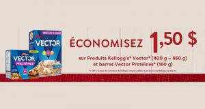 Coupon de 1.50$ sur les produits Kellogg's Vector