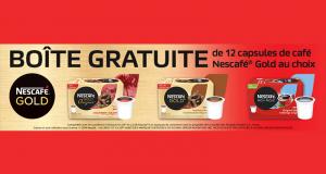 Obtenez gratuitement une boîte de 12 capsules de café Nescafé Gold