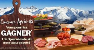 3 journées de ski d'une valeur de 500$ chacune