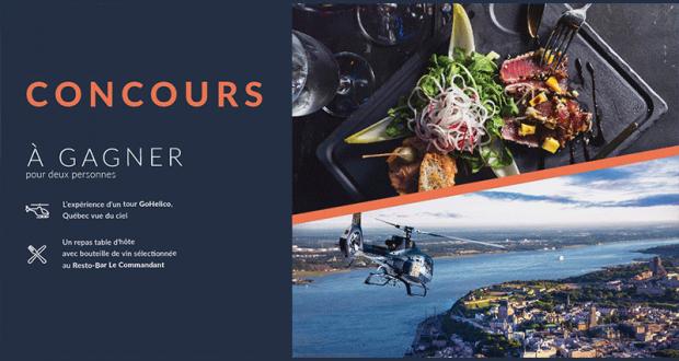 Un tour d'hélicoptère pour deux + Repas table d'hôte