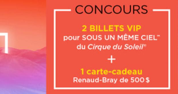 Carte-cadeau Renaud-Bray de 500 $ + 2 billets VIP de 500 $