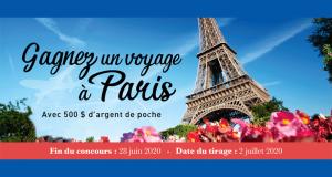 Gagnez un Voyage pour deux personnes à Paris (Valeur de 5000$)