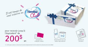 200$ en échantillons et coupons gratuits Similac